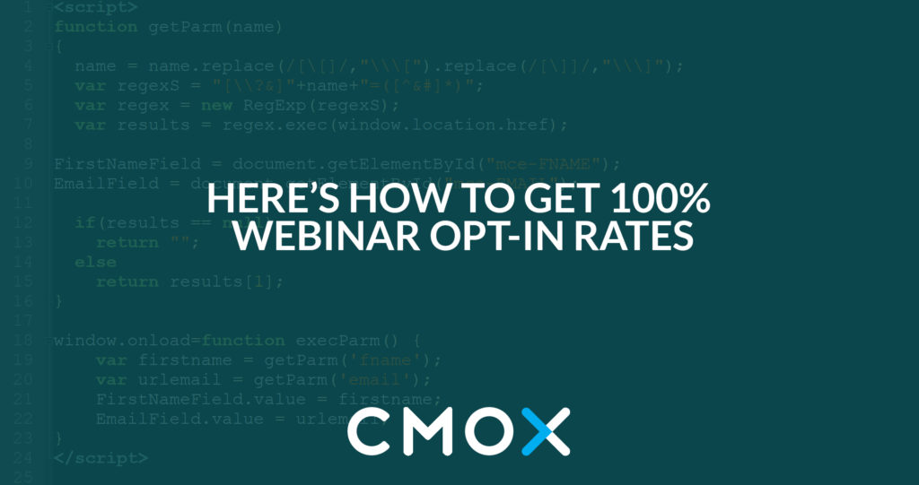 Increase your webinar optin rate to up to 100%